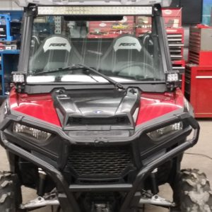 RZR Complete Under Roof Light Kit W/ Windshield