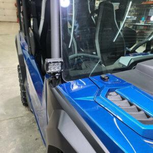 Yamaha Wolverine Spotlight Mounting Brackets